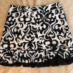Fleur-de-lis Scroll Mini Skirt by WHBM